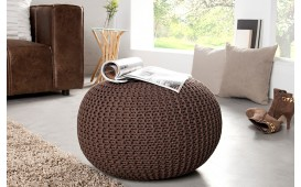 Dizajnerski tabure  KNITTED DARK COFFEE