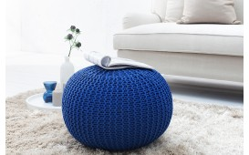 Dizajnerski tabure KNITTED DARK BLUE