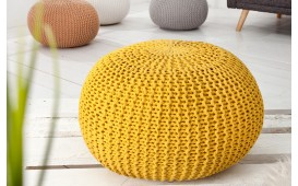 Dizajnerski tabure KNITTED YELLOW