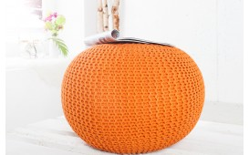 Dizajnerski tabure KNITTED ORANGE