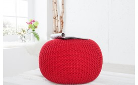 Dizajnerski tabure KNITTED RED