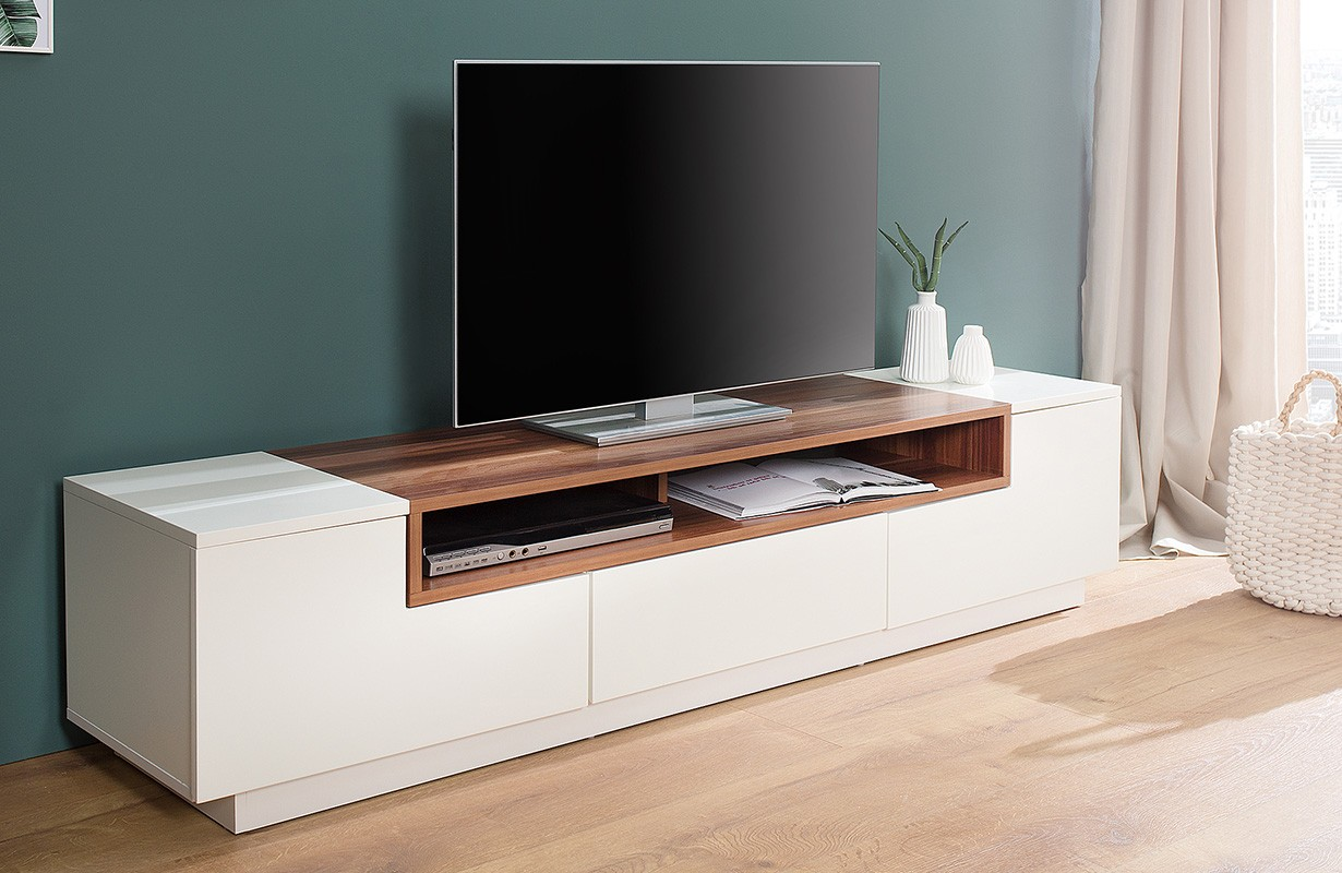 dizajnerska tv komoda state walnut 180 cm nativo moderan name taj. Black Bedroom Furniture Sets. Home Design Ideas