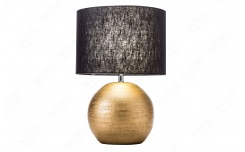Dizajnerska stona lampa LUXURIOUS GOLD-BLACK 45 cm