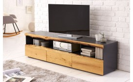Dizajnerska TV komoda WOOD GREY 180 cm