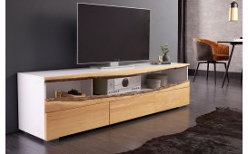 Dizajnerska TV komoda WOOD WHITE 180 cm