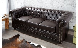 Dizajnerski trosed CHESTERFIELD DARK COFFEE