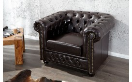 Dizajnerska fotelja CHESTERFIELD DARK COFFEE
