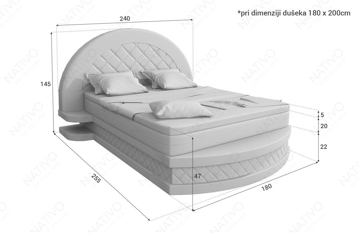 Dizajnerski boxspring krevet FRANKFURT NATIVO dizajnerski nameštaj Beograd