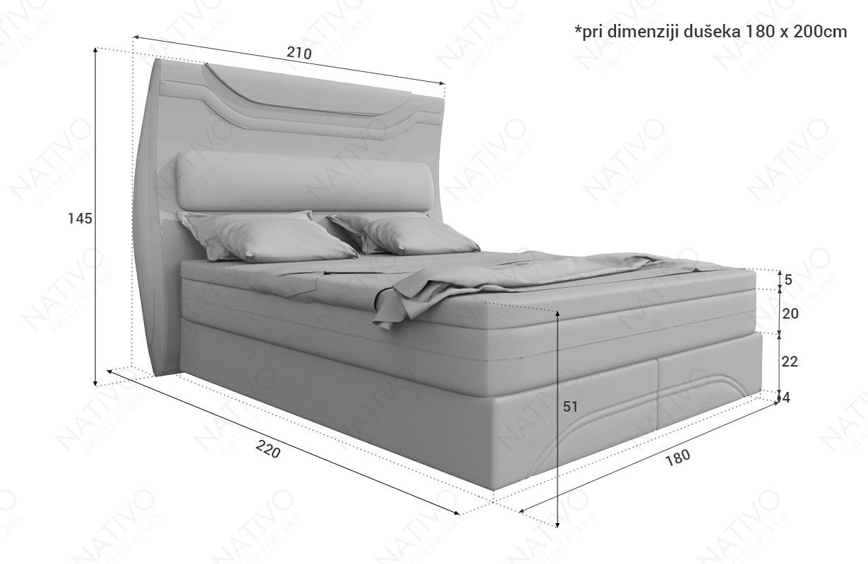 Dizajnerski boxspring krevet WIEN NATIVO dizajnerski nameštaj Beograd