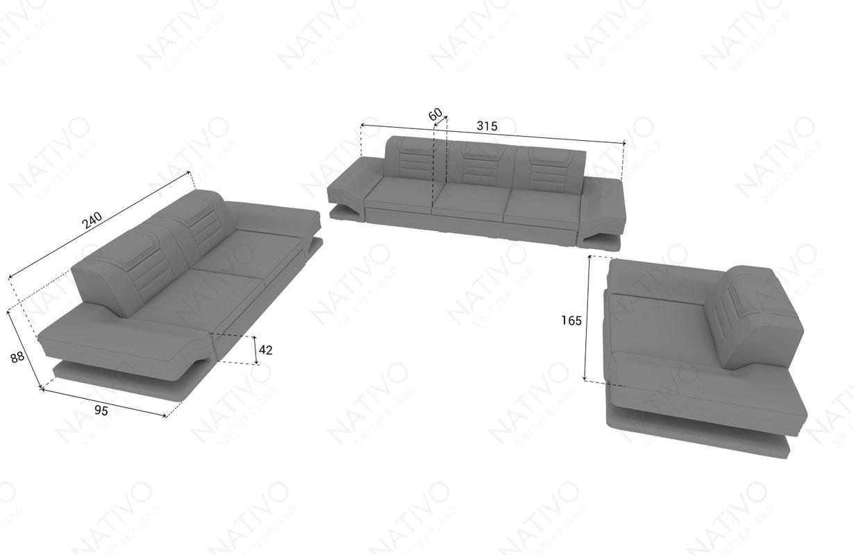Dimenzije dizajnerska fotelja ROUGE