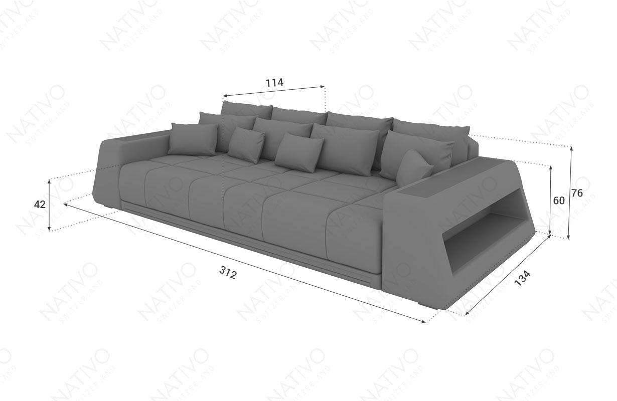 Dizajnerska garnitura Big Sofa VICE sa LED rasvetom NATIVO™ nameštaj Beograd Srbija