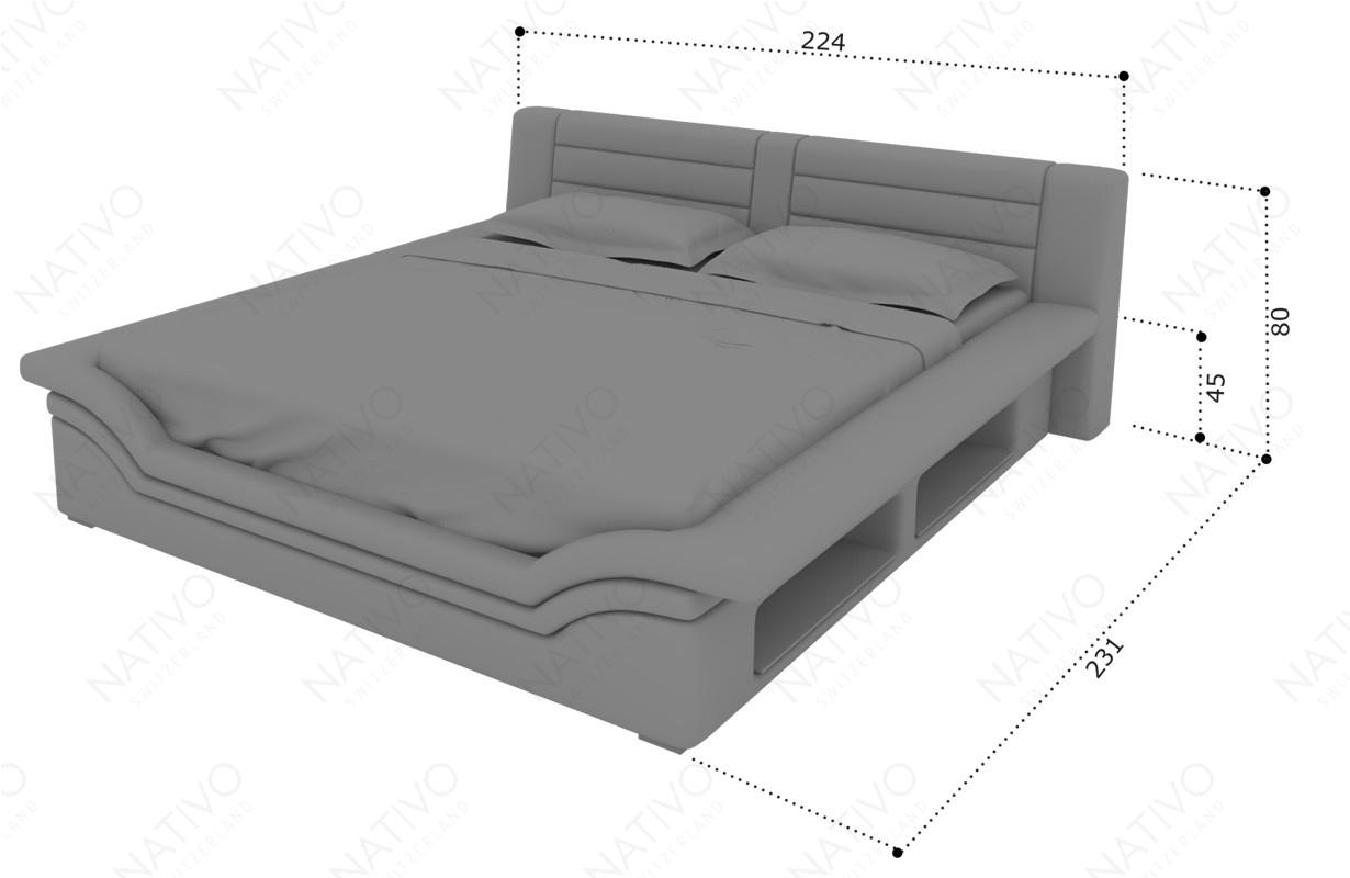 dimenzije dizajnerski krevet EVERLAST NATIVO dizajnerski nameštaj Beograd