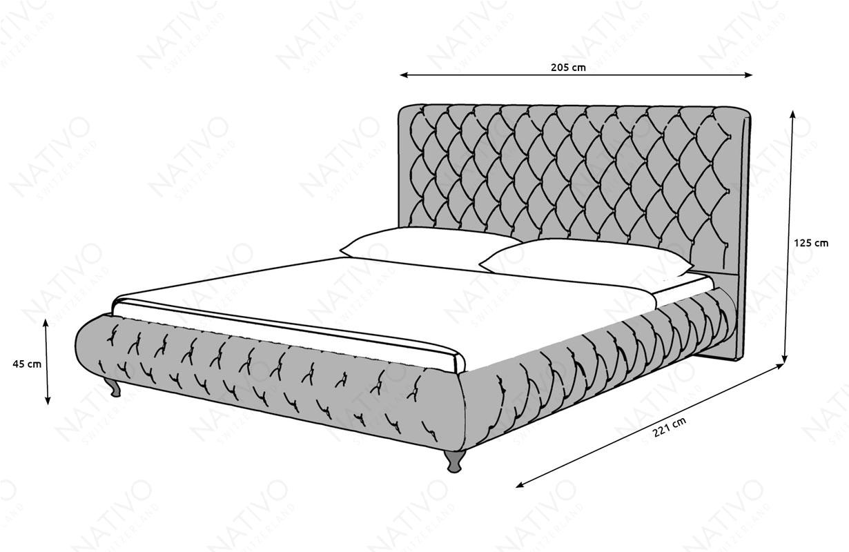 Dizajnerski krevet FLORA u salonu namestaja Nativo Zemun