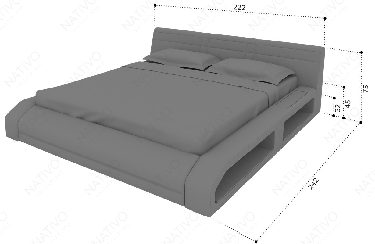 Dizajnerski krevet FLOYD sa LED rasvetom