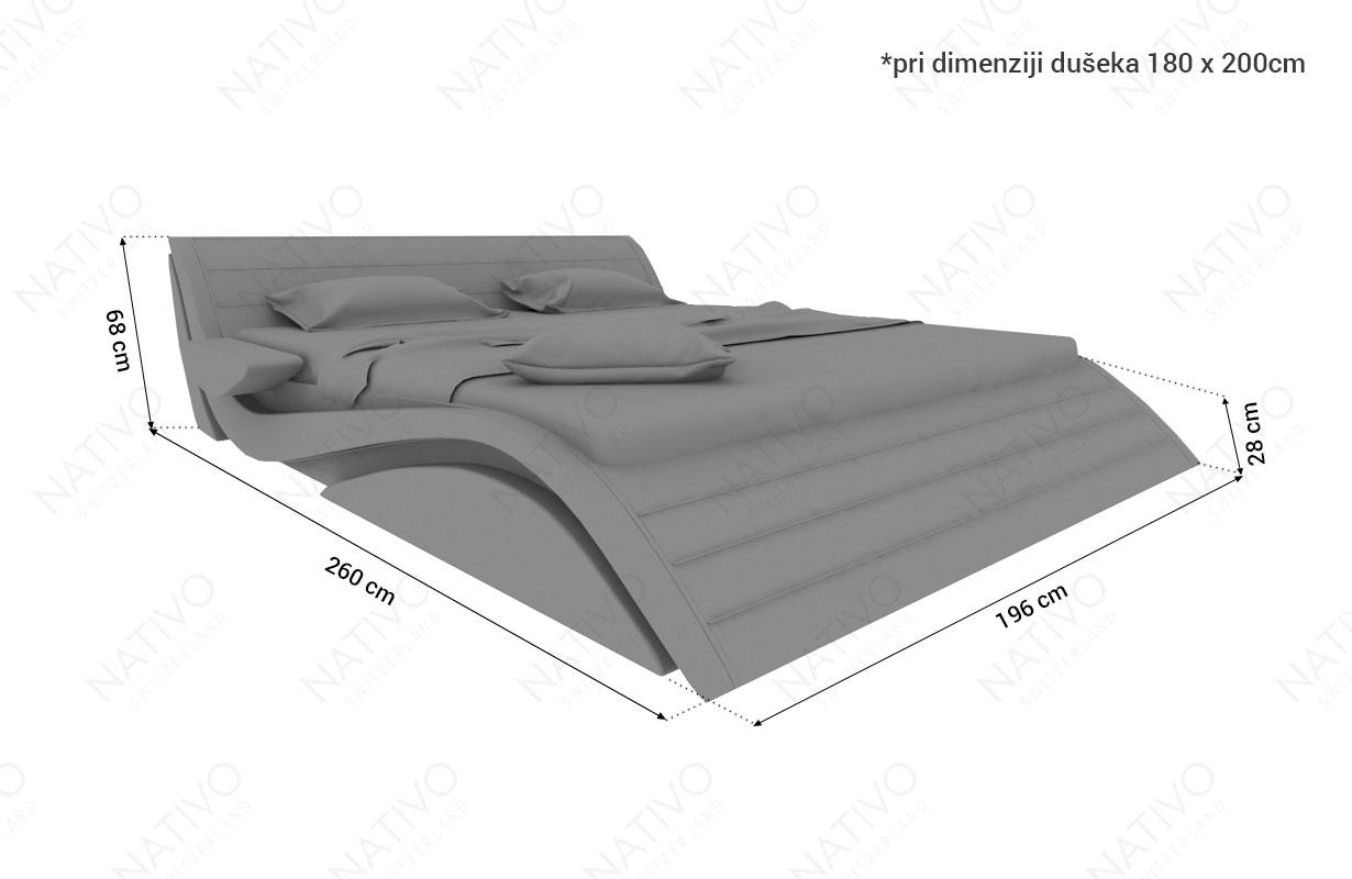 dimenzije dizajnerski krevet HAMBURG NATIVO dizajnerski nameštaj Beograd