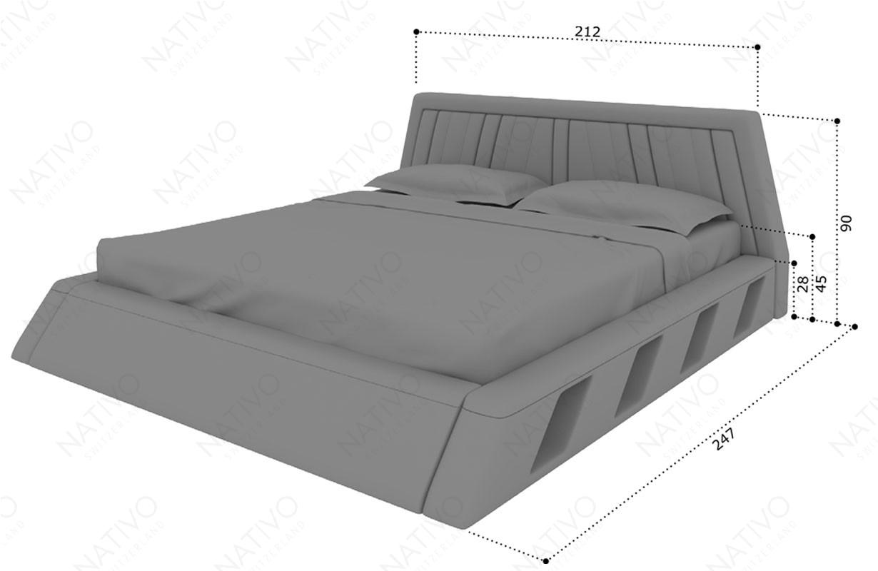 Dizajnerski krevet LENOX sa LED rasvetom