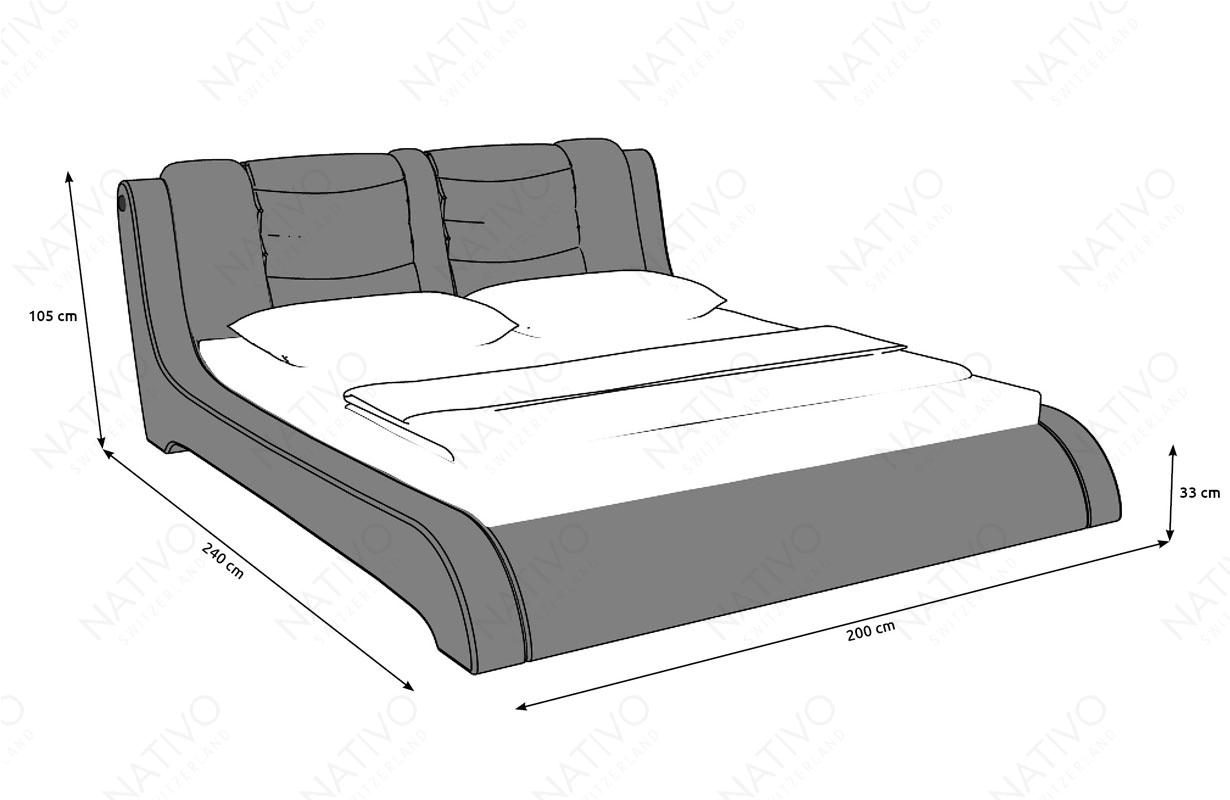 Dizajnerski krevet LUISA salon Nativo Zemun