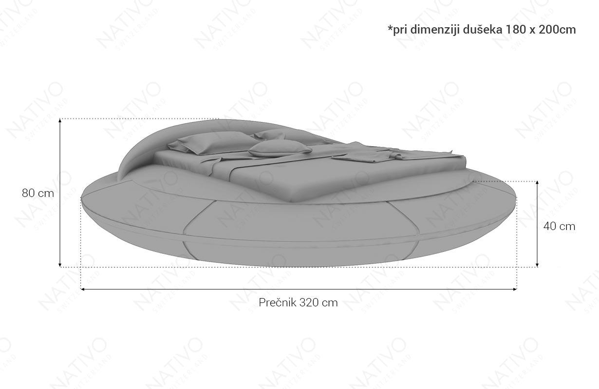 Dizajnerski krevet MARS sa LED rasvetom & USB priključkom