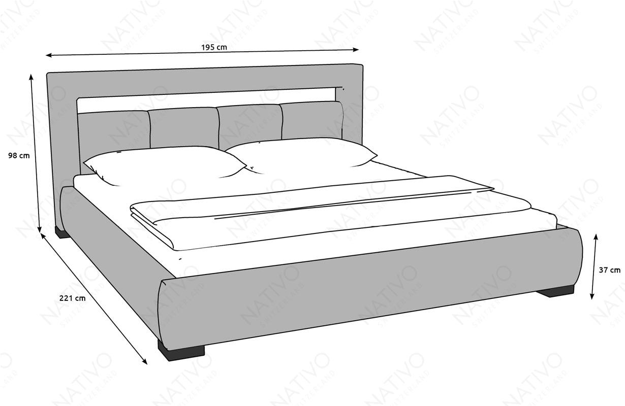 Dizajnerski krevet MOON sa LED rasvetom