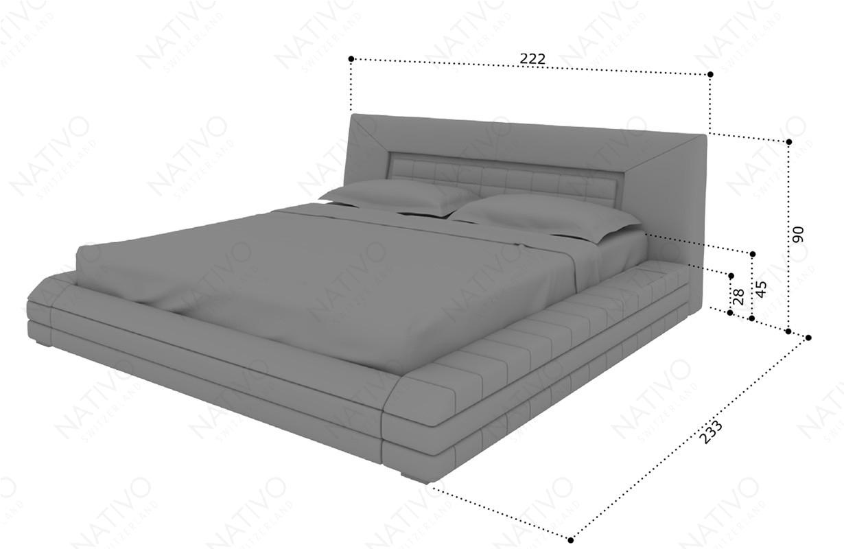 Dizajnerski krevet RAY sa LED rasvetom
