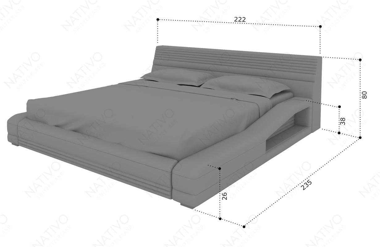 Dizajnerski krevet TYSON sa LED rasvetom