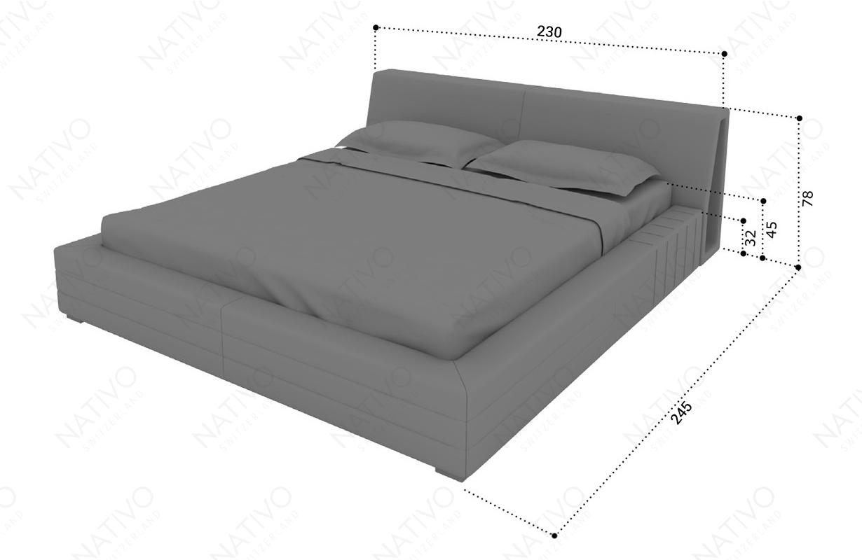 Dizajnerski krevet VENUM sa LED rasvetom