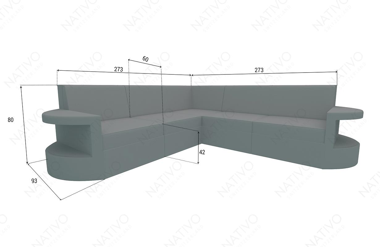 Dimenzije Ratan garnitura ATLANTIS CORNER v2