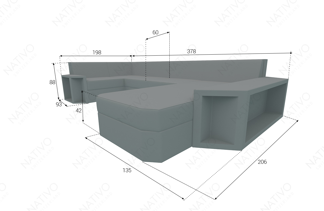 dimenzije ratan garnitura AVENTADOR XL V2
