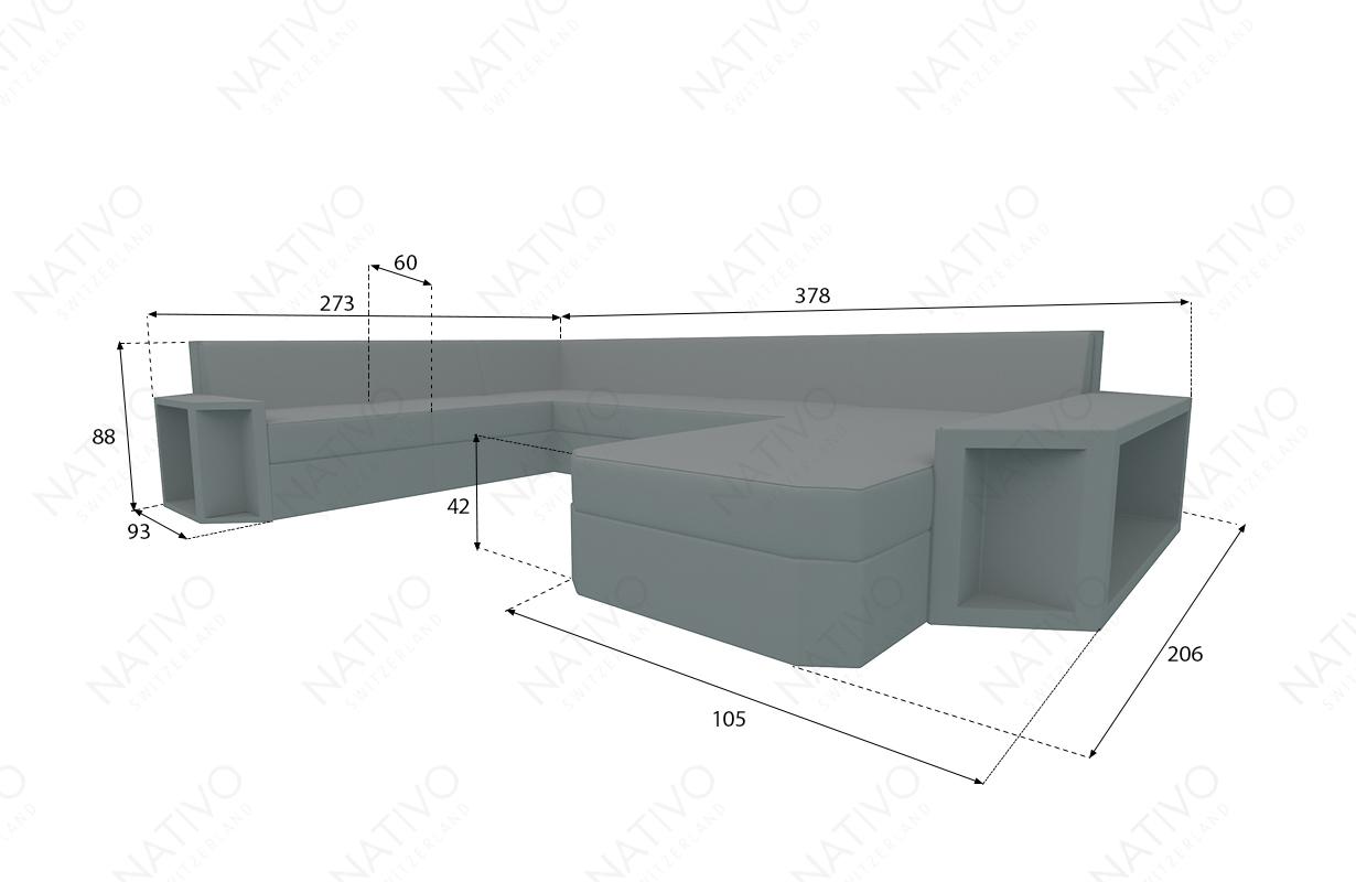 dimenzije ratan garnitura AVENTADOR XXL v2