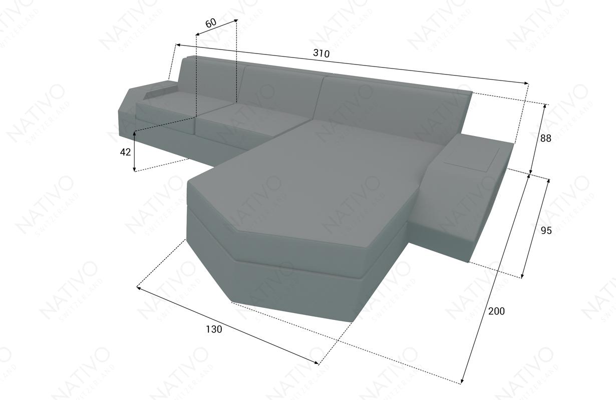 dimenzije ratan garnitura CLERMONT MINI
