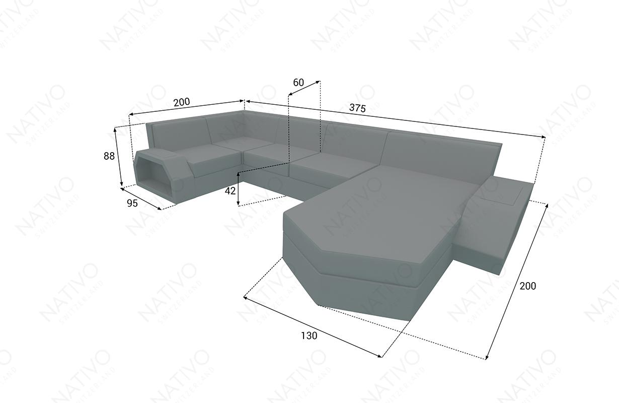 Dimenzije Ratan garnitura CLERMONT XL v1