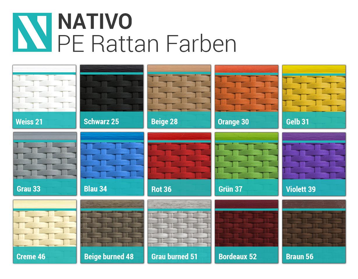 Paleta boja ratana NATIVO™ dizajnerski nameštaj Beograd Srbija
